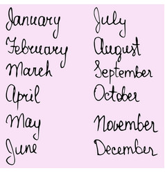 Names months vector