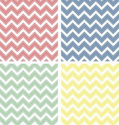 Pastel colored chevron pattern vector