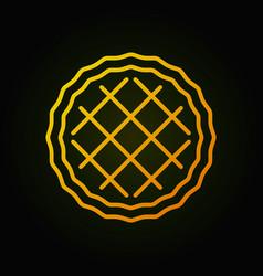 Pie yellow minimal icon concept linear vector