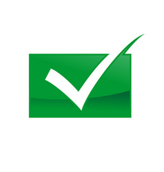 quality green checked box approved symbol design vector image
