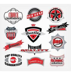 retro style emblems vector image