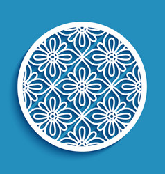 round panel with lace pattern vector image