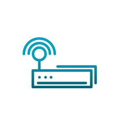 router signal connection internet communications vector image