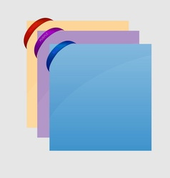 Rubber band corner with sheet on gray background vector image