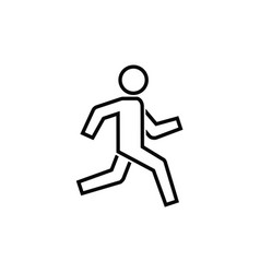 running man icon simple symbol of run isolated vector image
