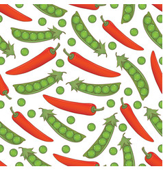 Seamless pattern with ripe vegetables vector