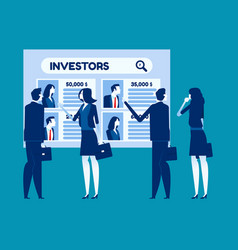 Search for investor concept business vector