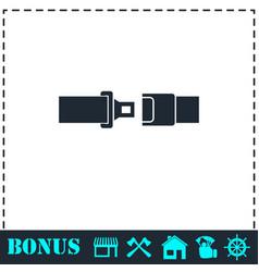 seat belt icon flat vector image