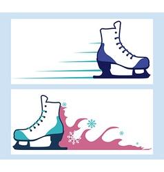 Skates design vector