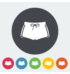 Sports shorts single icon vector image