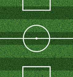 Striped football field vector