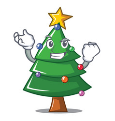 Successful christmas tree character cartoon vector