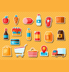 supermarket food selfservice and delivery vector image
