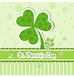 Template st patricks day greeting card vector