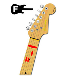 The guitar chord of f major vector