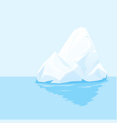 tip of iceberg in water vector image
