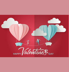 valentine s day greeting card with lettering text vector image