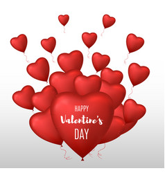 valentines day background heart shaped balloons vector image