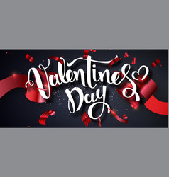 valentines day design template vector image