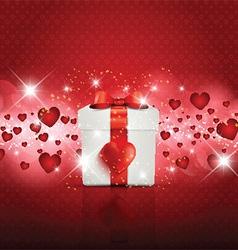 Valentines Day gift boxbackground vector image