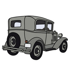 Vintage gray car vector image