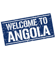 Welcome to angola stamp vector