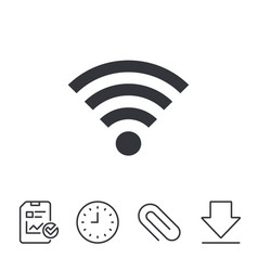 Wifi sign wi-fi symbol wireless network vector