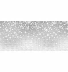 winter snowfall falling snow flakes banner vector image