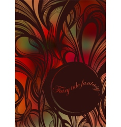 Abstract fairy tale curls vector image vector image