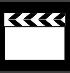 cinema clapper it is the white color icon vector image