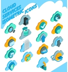 Cloud Services Icons Set vector image vector image
