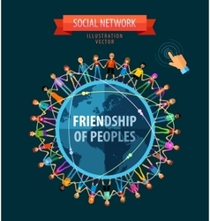 friendship of peoples logo design template vector image vector image