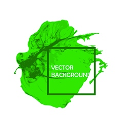 Green Ink brush paint stroke with rough edges vector image vector image