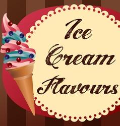 icecream retrobg vector image