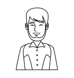 portrait man mustache smiling character person vector image