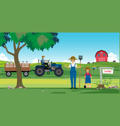 agricultural farm vector image vector image
