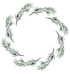 bamboo circular frame vector image vector image