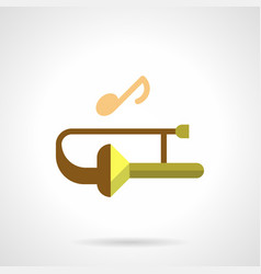 brass wind music festival flat color icon vector image