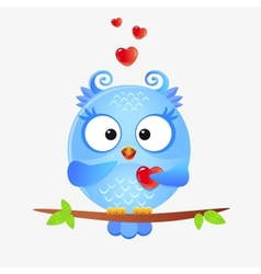 cute owl love vector image