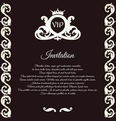 Elegant brown card for vip greetings and vector