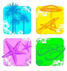 hand drawn resort objects vector image