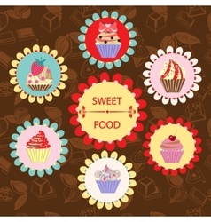Pattern of Sweet Food - vector image