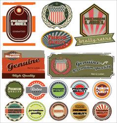 premium quality retro labels vector image vector image