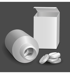 tablets and tube vector image