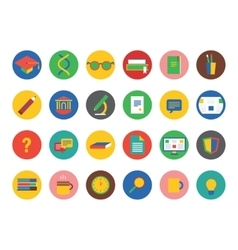 University icons set Education students vector image vector image