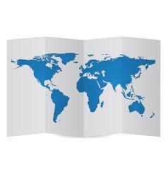 world map globe on folder paper eps vector image