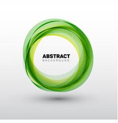 Abstract green circles vector