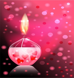 candle romance vector image vector image
