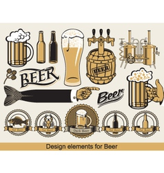 design for beer vector image