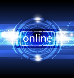 digital online concept background vector image vector image